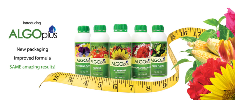 Algoplus+ fertilizers... New packaging, improved formula, SAME amazing results!